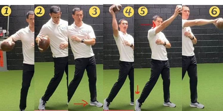 How to throw a football in 6 steps
